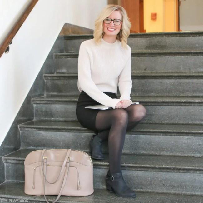 teacher-fashion-sweater-skirt-bridget-laughing