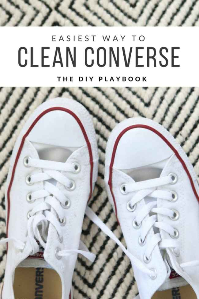 So Wash Your Converse So That They Look Like New Again