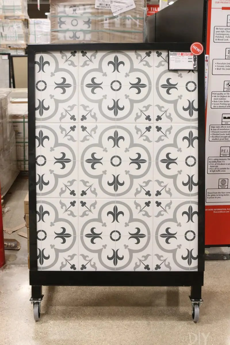 choosing tile for the mudroom with