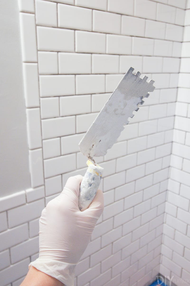 installing subway tile in your bathroom
