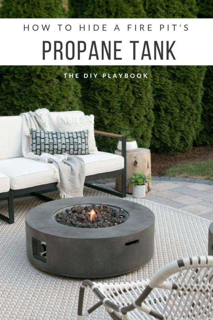 how to hide a propane tank from your