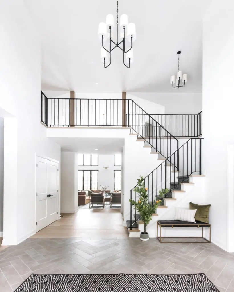 Metal Stair Railings Makeover Inspiration The Diy Playbook | Modern Horizontal Stair Railing | Really Thin | Interior | Cast Iron | Cable | Elegant
