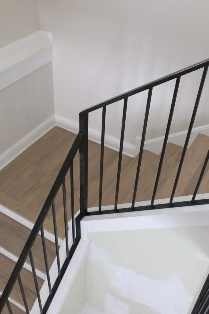 Before And After Staircase Transformation The Diy Playbook | Black Metal Stair Railing | Minimalist Simple Stair | Craftsman Style | Brushed Nickel | Rustic | Horizontal