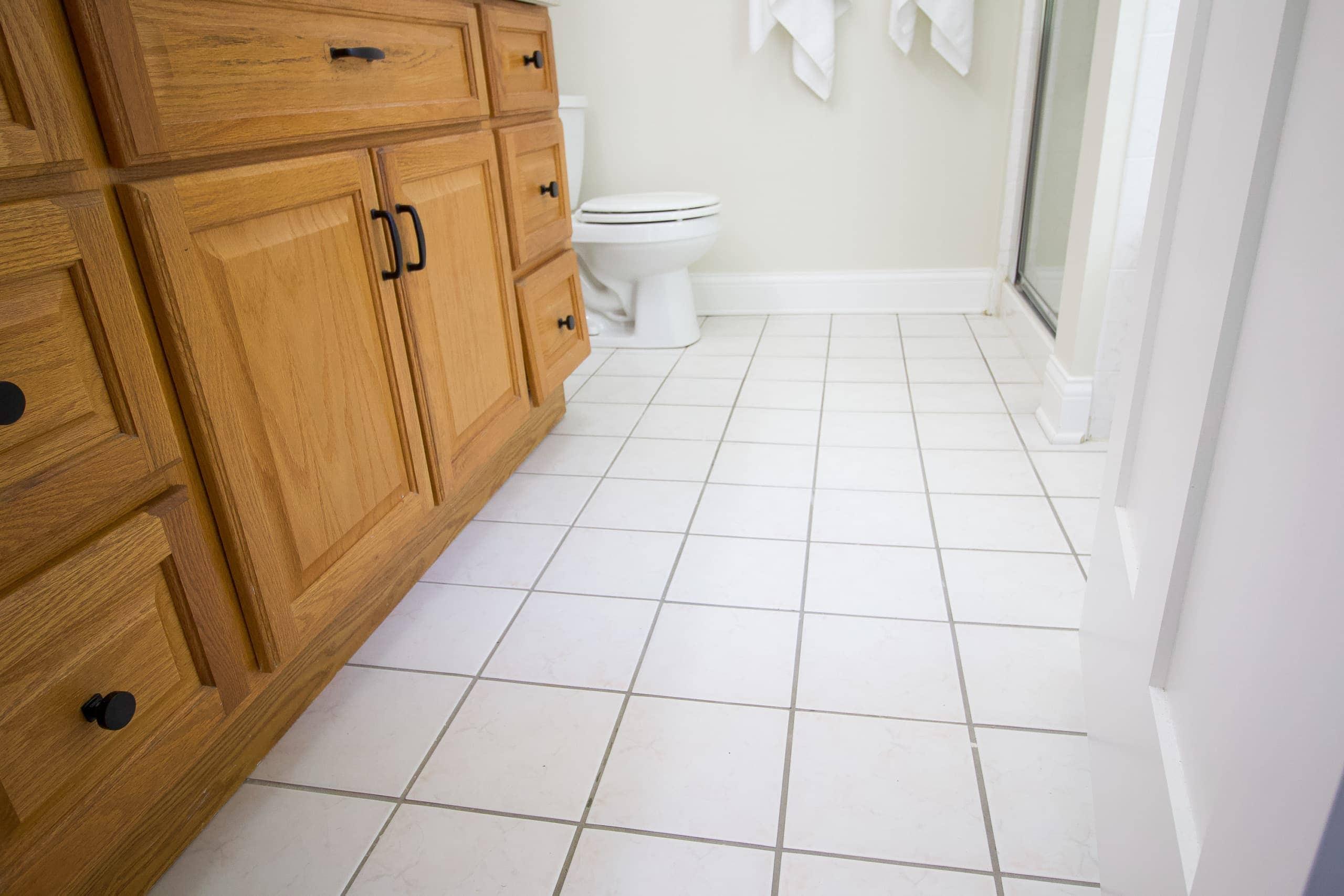 stencil tile floors in your bathroom