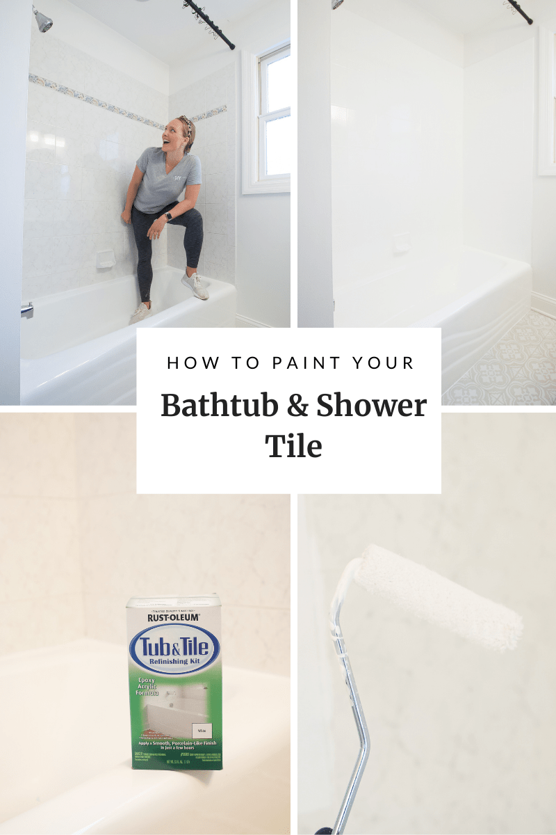 to paint your bathtub and shower tile