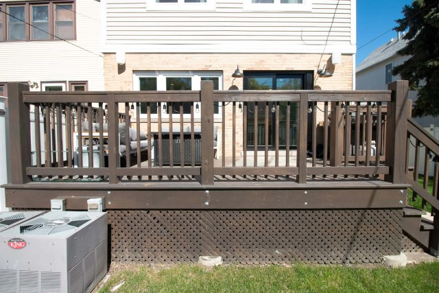 Our deck before