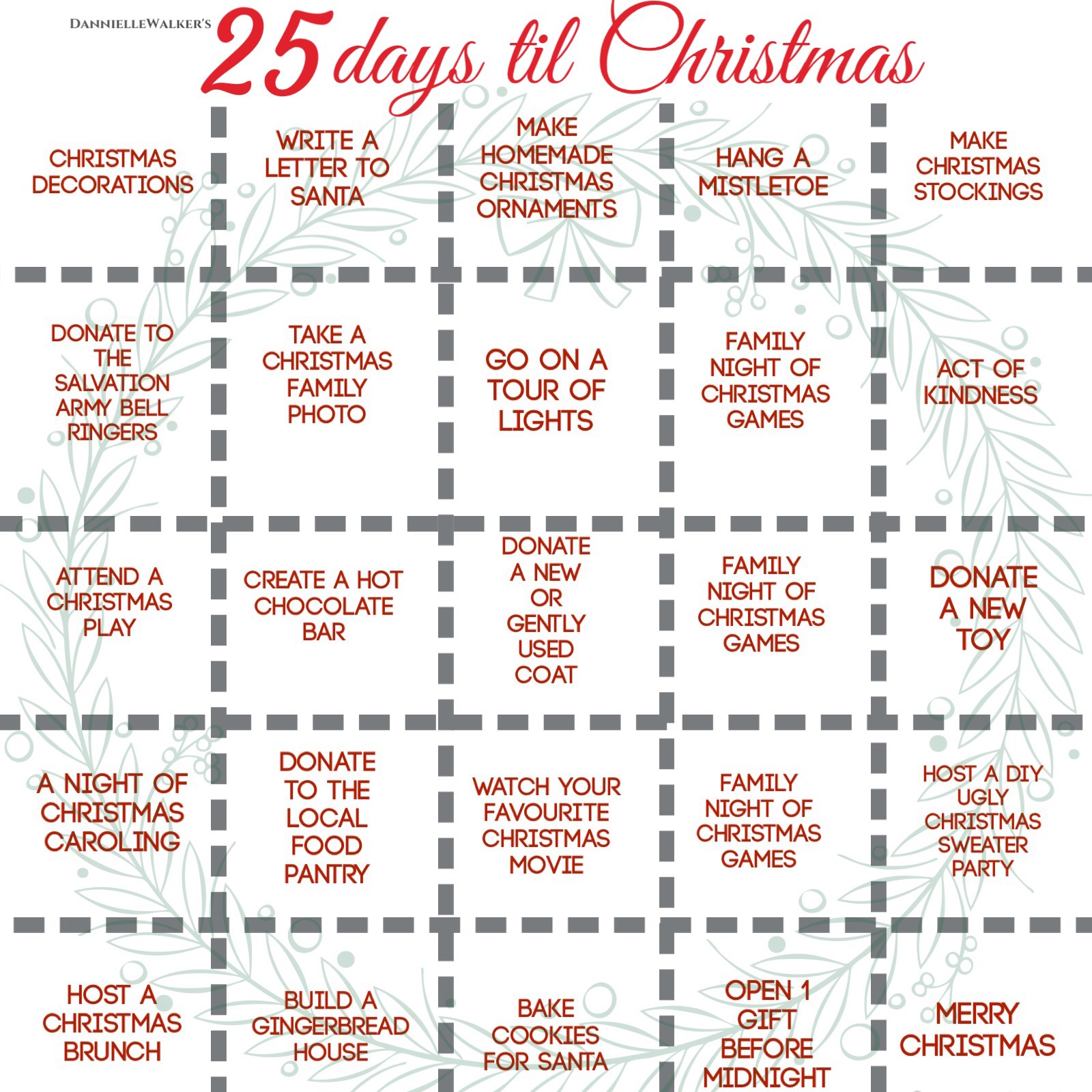 25 Days Til Christmas Thediyshow