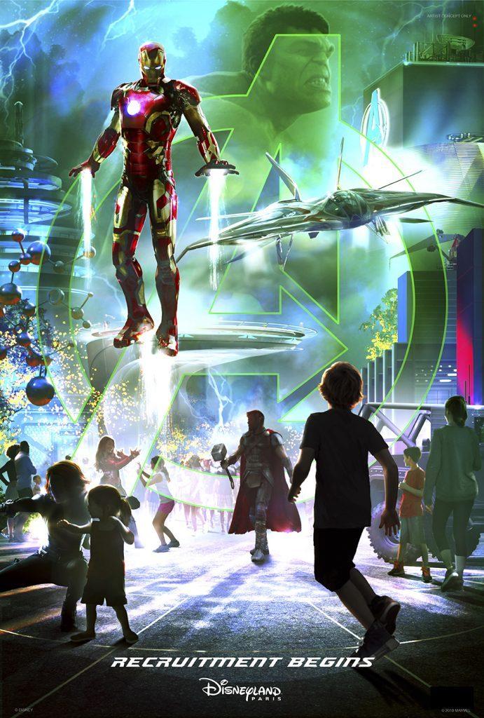 Marvel land first concept art