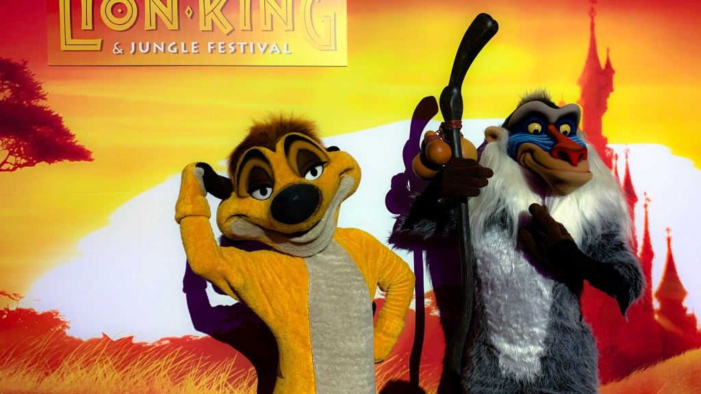 The Lion King & Jungle Festival characters