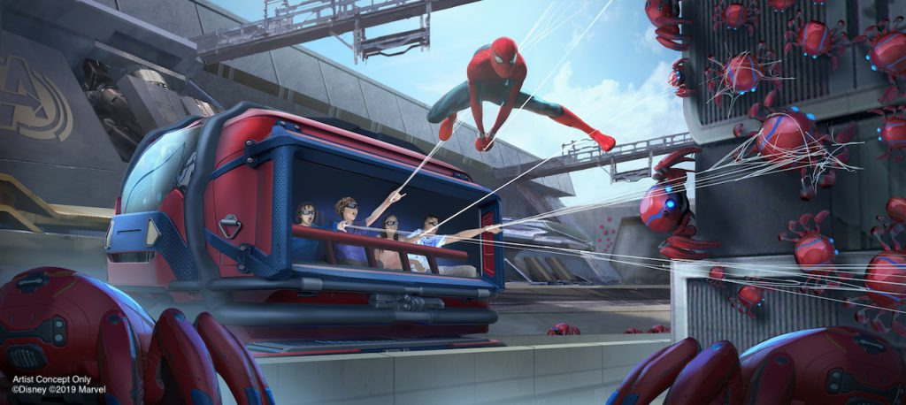 Web-Slingers: A Spider-Man Adventure see Spidey join guests aboard their WEB Slinger Vechicles
