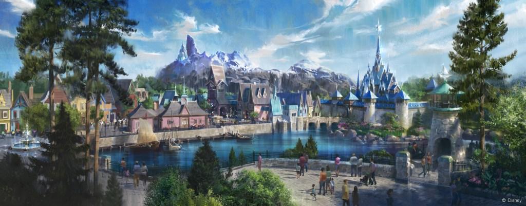 Concept art for the upcoming Frozen land, part of the Walt Disney Studios Park expansion