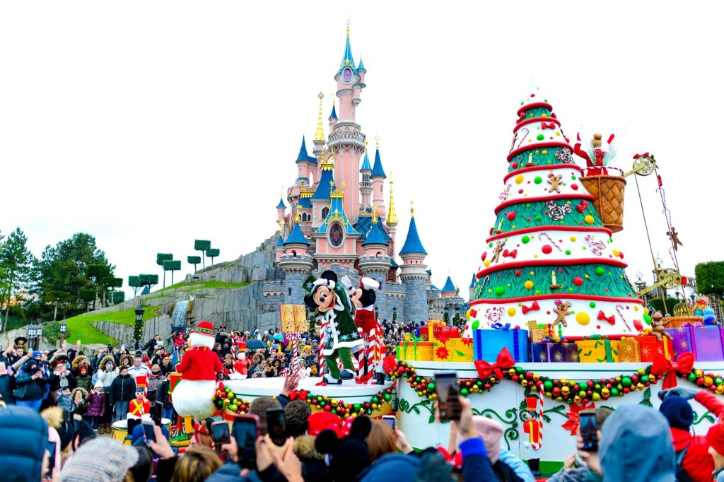 Disney's Christmas Parade as part of Christmas 2019 at Disneyland Paris