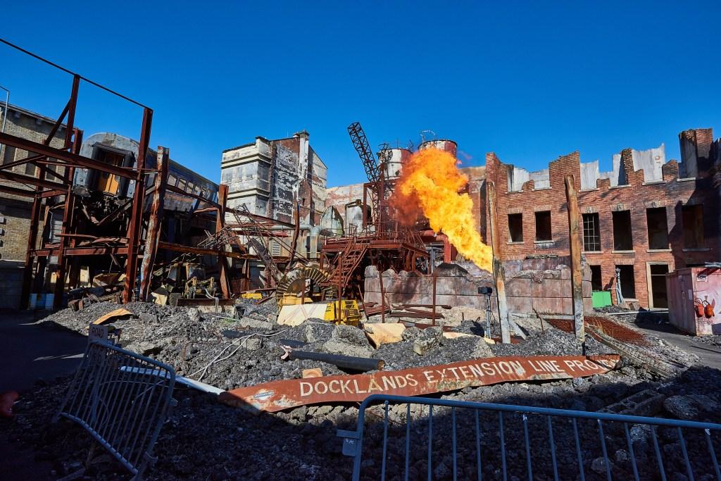 The Reign of Fire set, as part of Studio Tram Tour at Walt Disney Studios Park