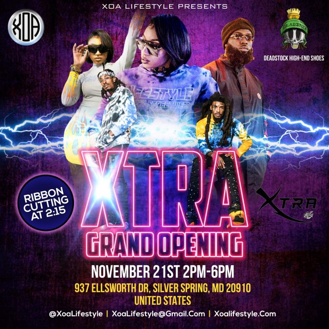 XOA Lifestyle Silver Spring Store Grand Opening on Saturday November.21st