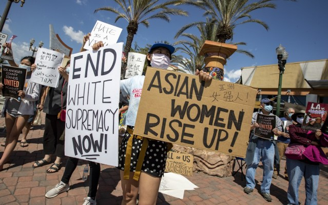 Hundreds Protest In L.A. to 'Stop Asian Hate'