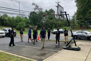 """Prince George's County Police Seek Connection with Community Via """"Hoops With a Cop"""""""