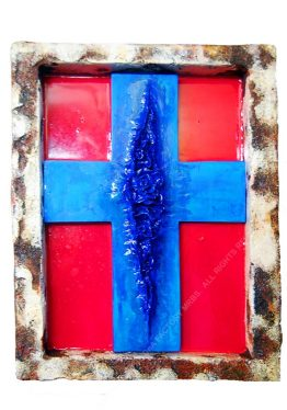 CROSSCUNT [RED,WHITE & BLUE] 35 x 25 x 5 cm. 2016. 1/1
