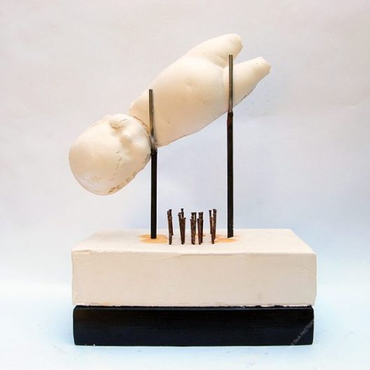 SPLIT [PLASTER] - 38 x 28 x 17 cm. 2020. 1/1