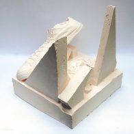 SLOW SINKING - Plaster, Wood. 35 x 26 x 26 cm. 2019. 1/1