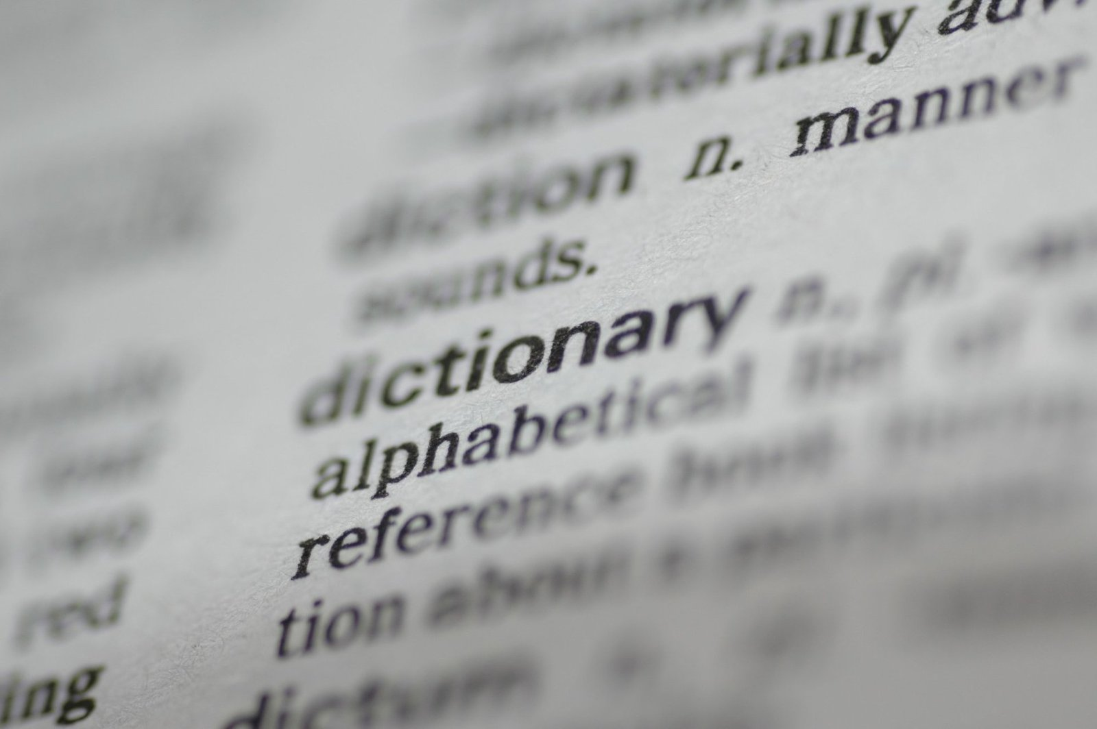 """Dictionary entry for the word """"dictionary""""."""