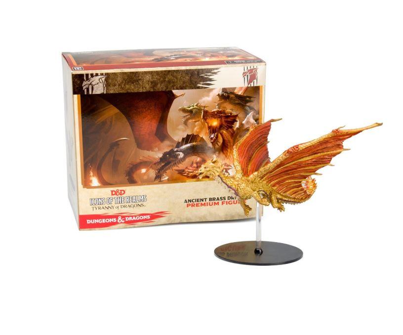 Dungeons & Dragons Miniature Figurines – Ancient Brass Dragon Figure