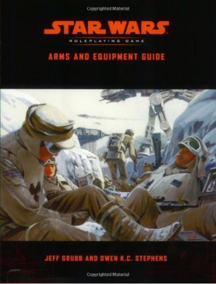 Starwars Roleplaying arms and epuipment