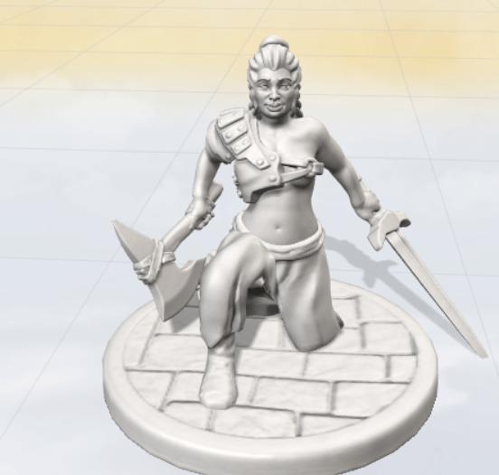 Barbarian Female created using Anvl