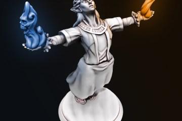 Female wizard created using Hero Forge