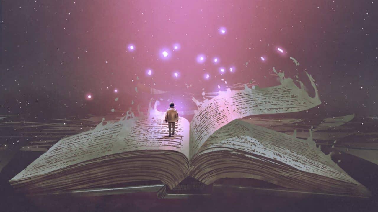 Walking through a magic book