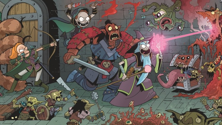 Rick & Morty battle monsters dressed as D&D characters