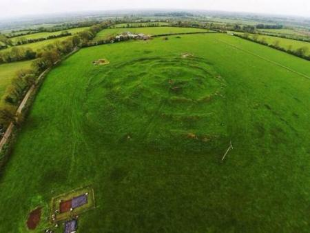 The site of Tlachtga (Tlachta) on the Hill of Ward, in County Meath, Ireland.