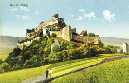 Early 20th century postcard of the Reps citadel written in German.