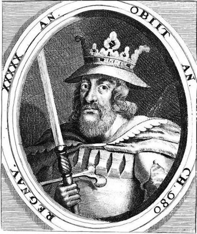 Portrait of King Harald Bluetooth. Image source: www.geni.com