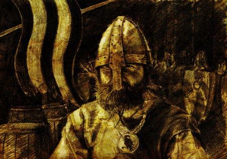 Artistic depiction of a Varangian warrior. Image source: www.deviantart.com