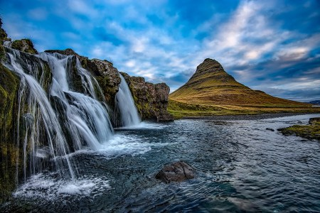 Kirkjufell ('the Church mountain' in Icelandic) from western Iceland.