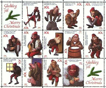 the 13 icelandic yule lads as depicted on an icelandic post stamp image source wwwpinterestcom - Merry Christmas In Icelandic