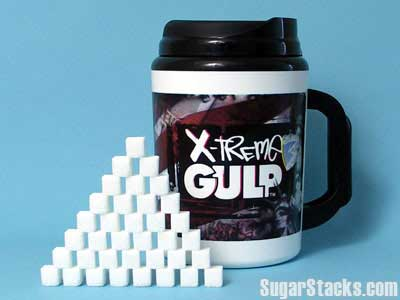 image depicting how many sugar cubes are in an xtreme gulp