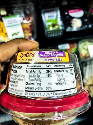 sodium in hummus