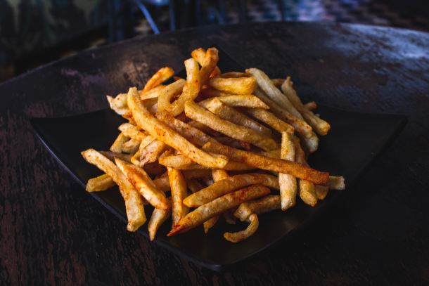 French fries in a skillet