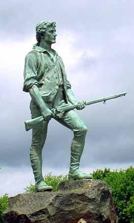Minute Man Statue, Lexington, Mass (Wikimedia) 272 x 450
