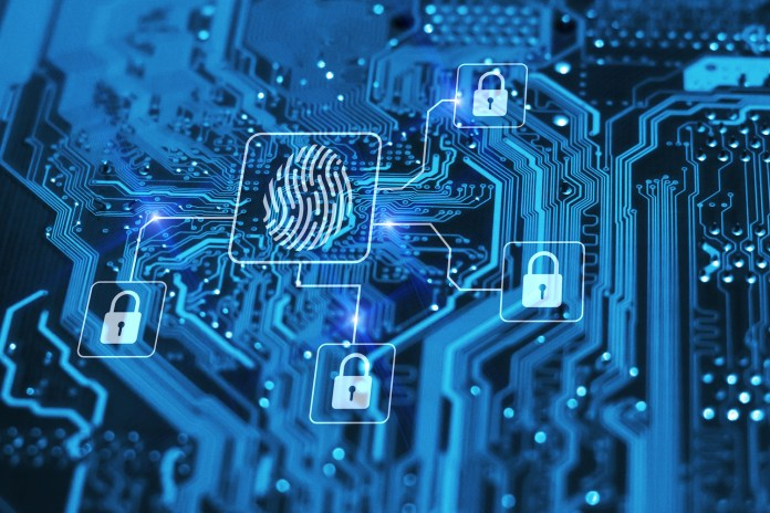 Graphic of medical data security 1500 x 1000