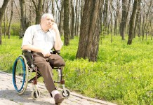 Pensive elderly amputee 1500 x 1000