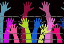 Raised hands in front of barbed wire (cropped) 1534 x 961 Pixabay.com
