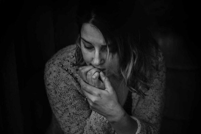 Sad woman black white close up 1500 x 1001