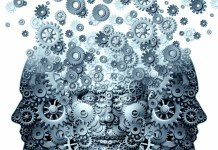 three human faces made of gears 1500 x 1500
