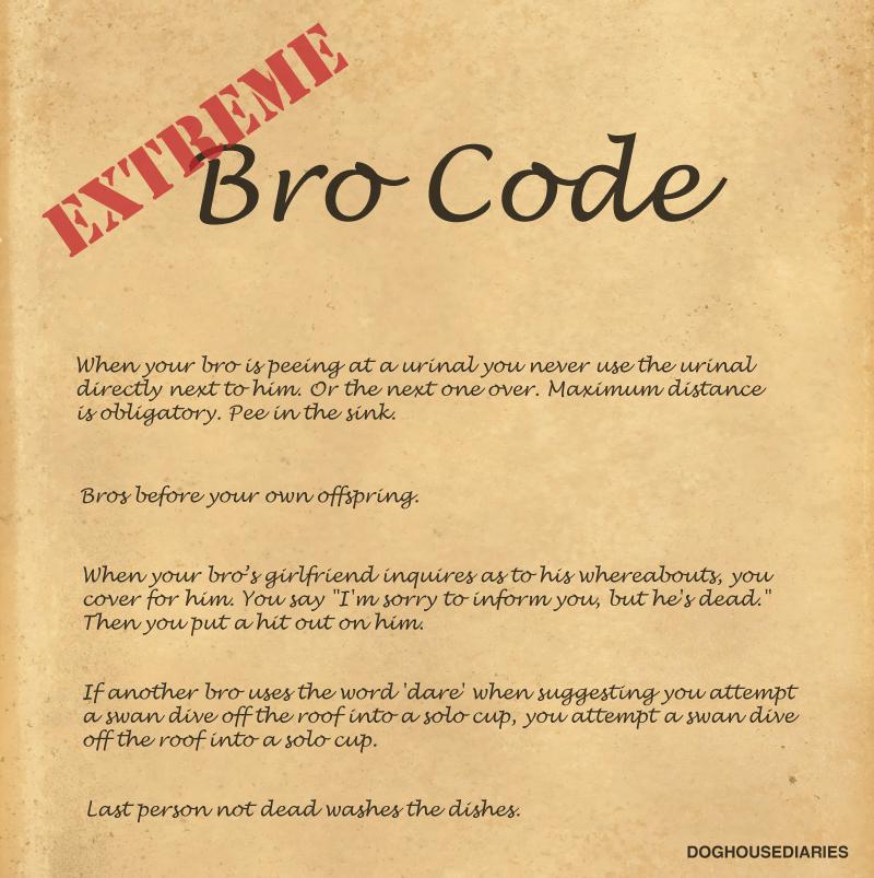 EXTREME Bro Code
