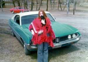 Cool car, sweet puppy and me! April 1975 ©D.D.B.
