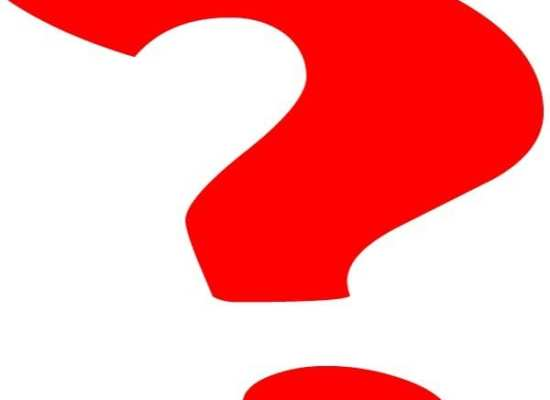 bright red question mark