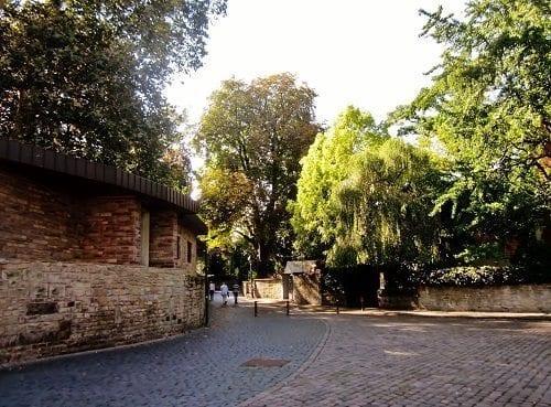 cobblestones and ancient walls