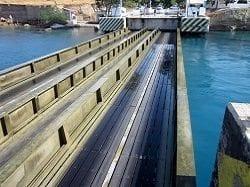 corinth canal bridge up